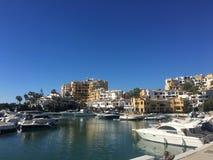 Marina de Cabopino, Mijas, Espagne photos stock