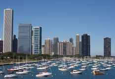 Marina de Chicago Photographie stock libre de droits