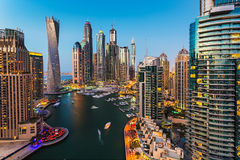 Marina de Dubaï. Émirats arabes unis Image stock