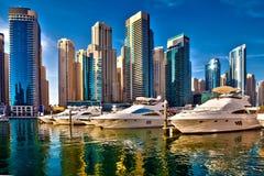 Marina de Dubaï aux EAU photo stock