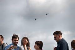 Marina de guerra del festival del verano, desfile militar de los aviones Ciudadanos rusos Fotografía de archivo