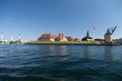 Marina de guerra del nyholm del puerto de Copenhague Foto de archivo