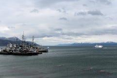 Marina de guerra la Argentina de la base militar en Ushuaia Imagenes de archivo