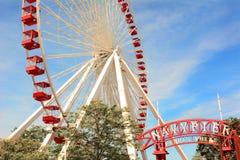 Marina de guerra Pier Ferris Wheel Foto de archivo libre de regalías