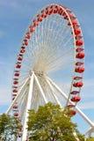 Marina de guerra Pier Ferris Wheel Imagenes de archivo