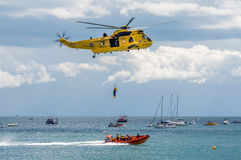 Marina de guerra real Sea King Helicopter Foto de archivo libre de regalías