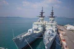 Marina de guerra real TAILANDIA del barco real de la marina de guerra imagen de archivo libre de regalías