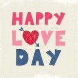 Marina de guerra rosada poner crema del amor del día de la tipografía feliz linda de la tarjeta ilustración del vector