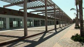 Marina de las salinas empty stores stock video