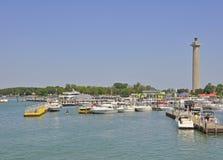 Marina de Mettre-dans-baie photos libres de droits