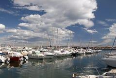 Marina de port de Garrucha photo stock