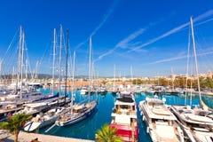 Marina de port de Palma de Mallorca dans Majorca baléar Images stock