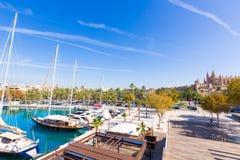 Marina de port de Palma de Mallorca dans Majorca baléar Image libre de droits