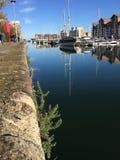 Marina de Portishead en soleil d'hiver Photo stock