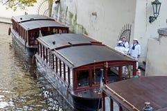 Marina de Prague Photos libres de droits