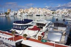 Marina de Puerto Banus en Espagne Photos libres de droits