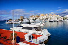 Marina de Puerto Banus en Espagne Images libres de droits