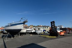 Marina de Styrso, Suède Photos libres de droits