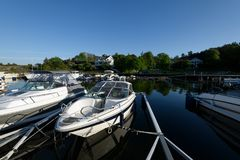 Marina de Styrso, Suède Image libre de droits