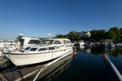 Marina de Styrso, Suède Image stock