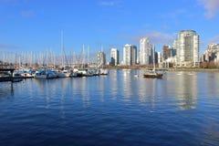 Marina de Vancouver et de False Creek Photo stock