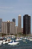 Marina de ville Photographie stock