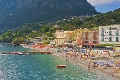 Marina del Cantone, Sorrento kust, Italien Fotografering för Bildbyråer