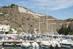 Marina del Este和被放弃的发展 库存图片