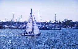 Marina Del Rey california sailboat stock photos