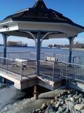 Marina Del Rey Lake View Kiosk Royalty Free Stock Photo