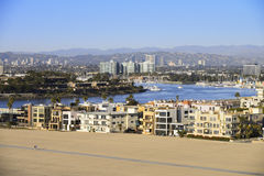 Marina Del Rey. Is one of the largest man-made harbors for small craft Stock Photography