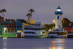 Marina del Rey, vila do ` s do pescador de Califórnia Foto de Stock Royalty Free