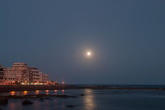 Marina Del Sur bij nacht Royalty-vrije Stock Afbeeldingen
