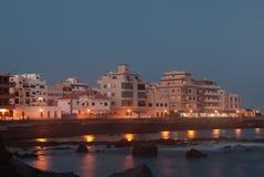 Marina Del Sur bij zonsondergang Stock Foto