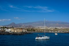 Marina del Sur, Las Galletas, Ténérife, Espagne Photographie stock libre de droits