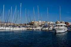 Marina del Sur, Las Galletas, Ténérife, Espagne Photo libre de droits