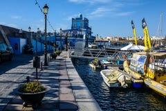Marina del Sur, Las Galletas, Tenerife, España Imágenes de archivo libres de regalías