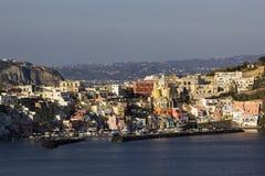 Marina della Corricella in Procida in Italy Stock Photography