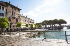 Marina in Desenzano at Garda Lake royalty free stock photography