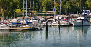 Marina on Detroit River Stock Photography