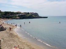 Marina di Camerota - de Lentebaden Stock Afbeeldingen