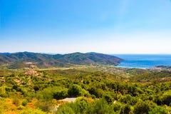 Marina di Campo in Elba Island lizenzfreies stockbild