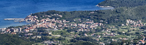 Marina di campo on elba island Royalty Free Stock Image
