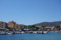Marina di Campo in Elba Island Stock Image