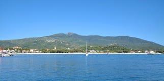 Marina di Campo, Insel von Elba, Toskana, Italien stockfoto