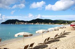 Marina di Campo strand, Elba Island Arkivfoto
