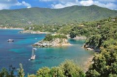 Marina Di Campo, wyspa Elba, Tuscany, Włochy Zdjęcia Stock