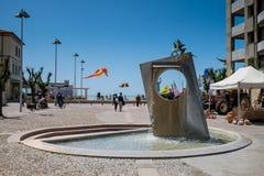 MARINA Di CECINA WŁOCHY, Maj, - 07, 2017: Largo Cairoli kwadrat i Obrazy Royalty Free
