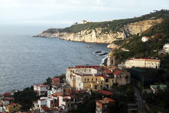 Marina di lobia. The small town of marina di lobia near sorrento in italy Stock Image