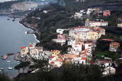 Marina di lobia town. The old town marina di lobia near sorrento in italy Stock Photos